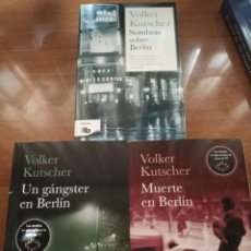 Libros: SOMBRAS SOBRE BERLÍN. UN GÁNGSTER EN BERLÍN. MUERTE EN BERLÍN. V. KUTSCHER. Lote 278807858