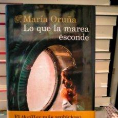 Livres: MARIA ORUÑA. LO QUE LA MAREA ESCONDE .(UN NUEVO CASO DE LA TENIENTE VALENTINA REDONDO) .DESTINO. Lote 282986958
