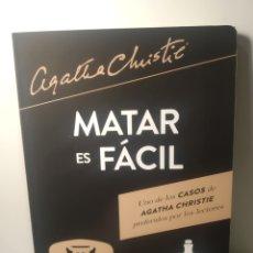 Libros: MATAR ES FÁCIL. AGATHA CHRISTIE. ESPASA. 2021.. Lote 285148728