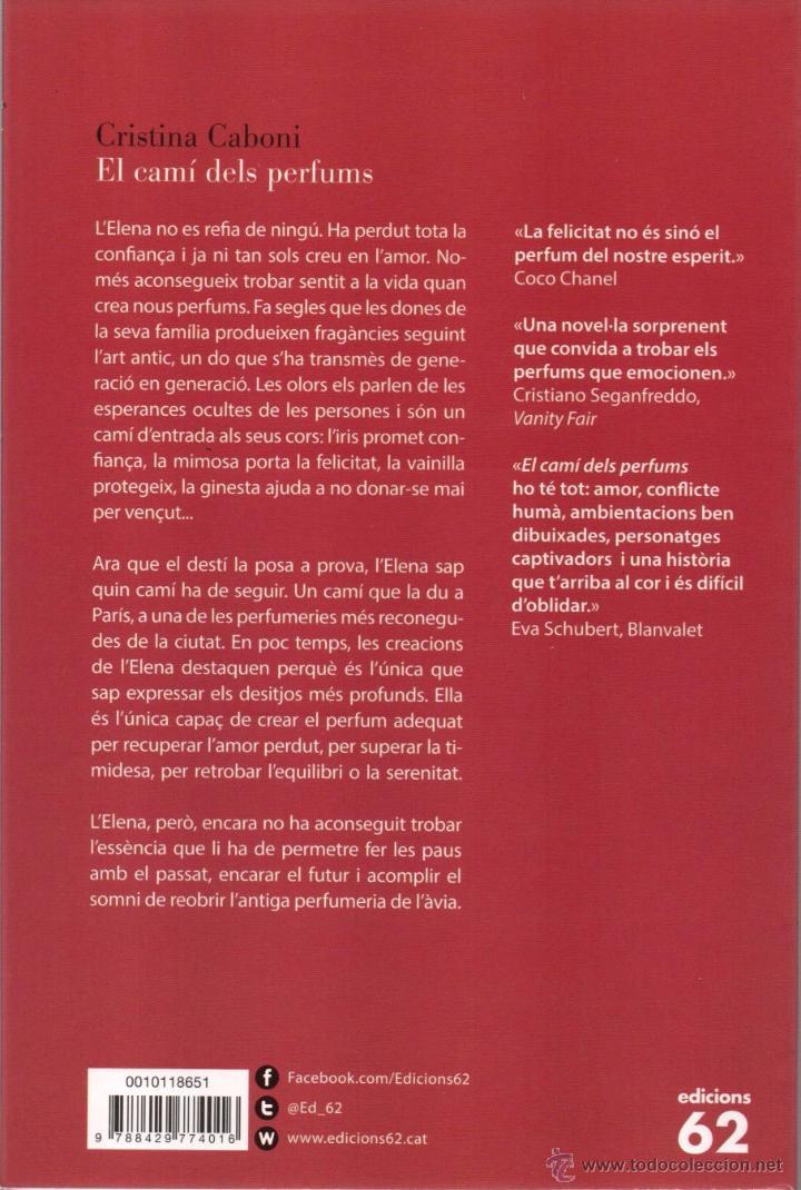 Libros: EL CAMI DELS PERFUMS de CRISTINA CABONI - EDICIONES 62, 2015 - Foto 2 - 49602332