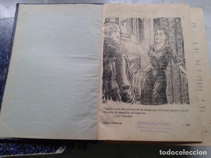 Libros: ALMAS A PRUEBA. NOVELA POR FÁSCICULOS ENCUADERNADA EN DOS TOMOS. SOBRE 1930 - Foto 3 - 78399877