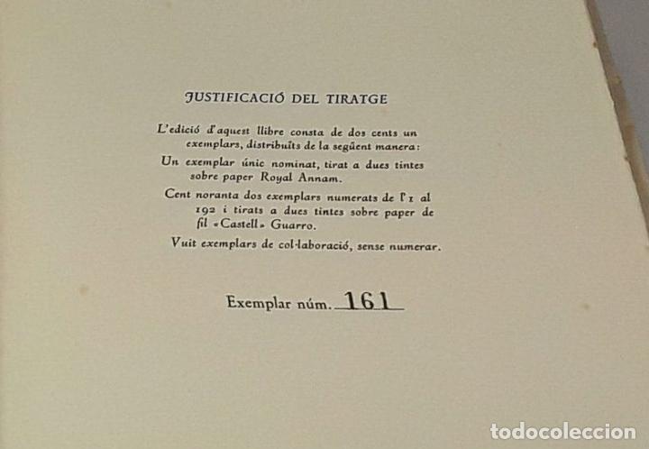 Libros: EL SOMRIURE DE SA BOQUERA. EJEMPLAR Nº 161. JOSEP PALAU. EDIC. S. A. HORTA. 1949. - Foto 6 - 79843033