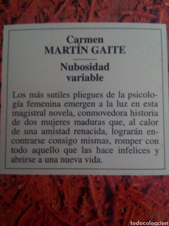 Libros: Nubosidad variable. Carmen Martín Gaite - Foto 2 - 108358190