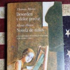Libros: DESORDEN Y DOLOR PRECOZ. Lote 140555668