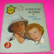 Libros: COLECCIÓN ESMERALDA EL CORAZÓN MANDA, POR QUINTELA FERREIRO. Lote 153254686