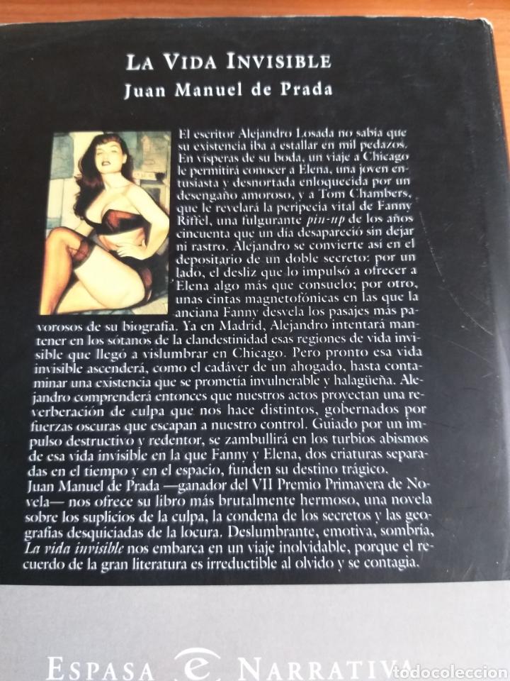 Libros: La vida invisible. Juan Manuel de Prada - Foto 2 - 169824190
