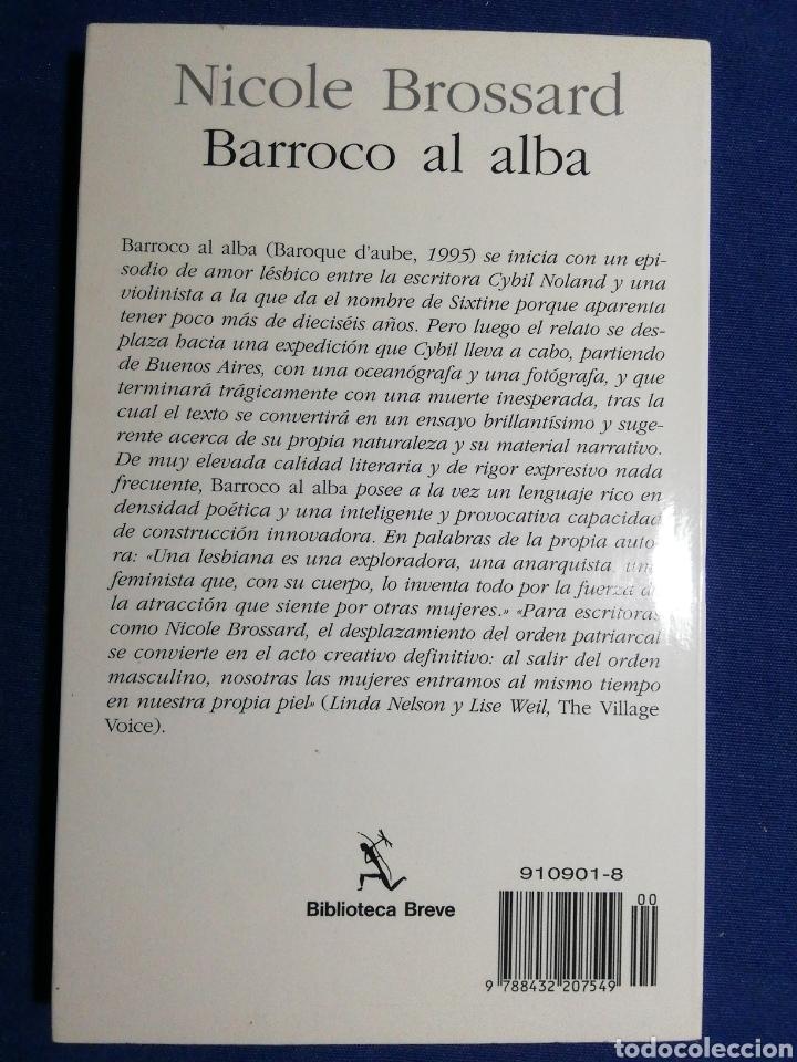 Libros: NUEVO. BARROCO AL ALBA. NICOLE BROSSARD. - Foto 2 - 180148975