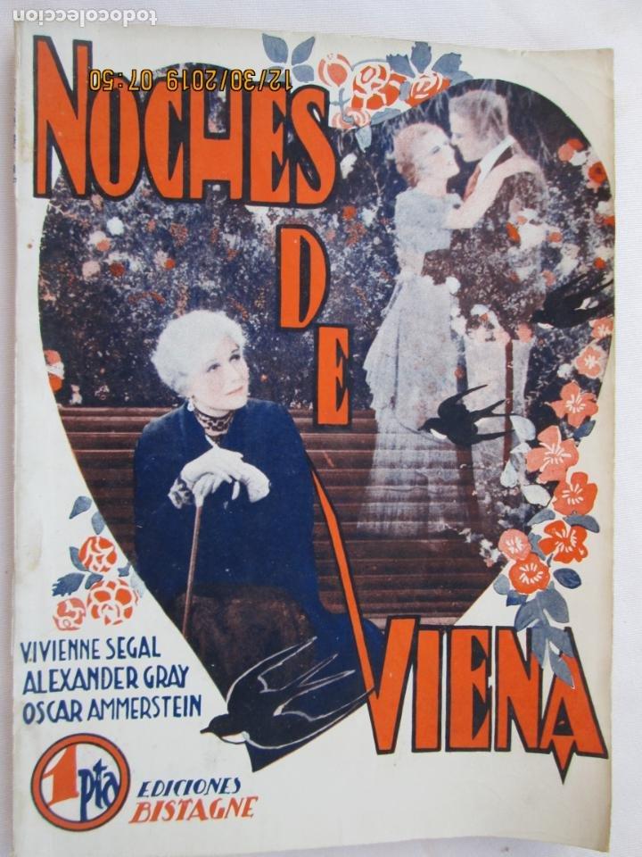 NOCHES DE VIENA , VIVIENNE SEGAL EDICIONES BISTAGNE - LA NOVELA SEMANAL CINEMATOGRÁFICA Nº166 (Libros Nuevos - Literatura - Narrativa - Novela Romántica)