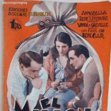 Libros: EL MILLON - ANNABELLA - RENE CLAIR EDICIONES BISTAGNE - LA NOVELA SEMANAL CINEMATOGRÁFICA. Lote 189587553