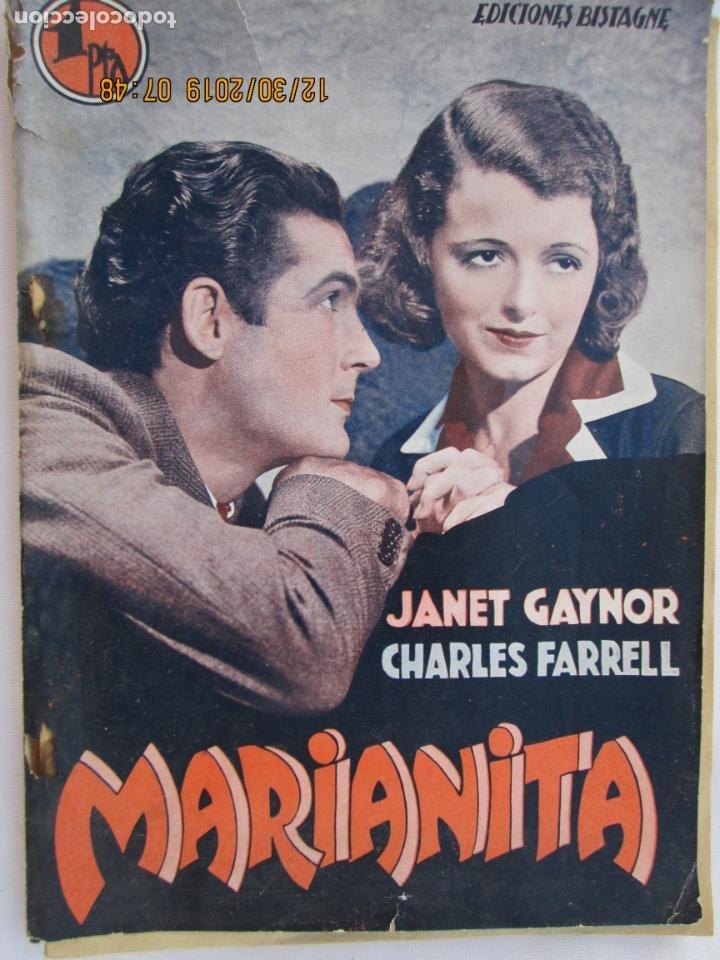 MARIANITA , JANET GAYNOR, CHARLES FARRELL - EDICIONES BISTAGNE - LA NOVELA SEMANAL CINEMATOGRÁFICA (Libros Nuevos - Literatura - Narrativa - Novela Romántica)