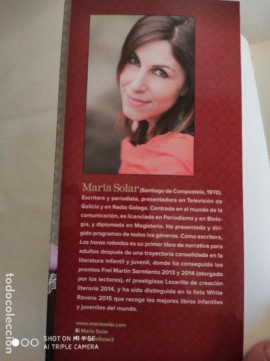 Libros: LAS HORAS ROBADAS.2016.MARIA SOLAR - Foto 3 - 191148907