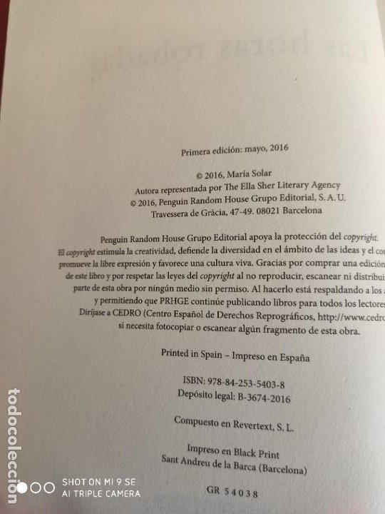 Libros: LAS HORAS ROBADAS.2016.MARIA SOLAR - Foto 4 - 191148907