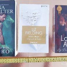 Libros: PACK LIBROS-NOVELA ROMANTICA-PACK DE TRES-BOLSILLO-IMPOLUTOS-VER FOTOS. Lote 211780063