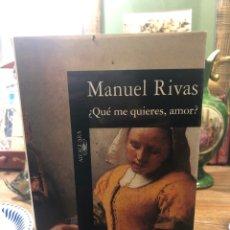 Libros: ¿QUÉ ME QUIERES, AMOR?. Lote 221281633