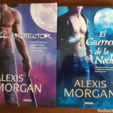 """Libros: ALEXIS MORGAN:""""EL PROTECTOR"""" Y """"EL GUERRERO DE LA NOCHE"""". Lote 229343875"""