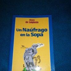 Libros: UN NÁUFRAGO EN LA SOPA, ÁLVARO DE LA IGLESIA, NOVELA ROMÁNTICA.. Lote 247430490