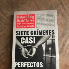 Libros: SIETE CRÍMENES CASI PERFECTOS. Lote 180416355