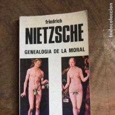 Libros: GEANOLOGIA DE LA MORAL. Lote 180417765