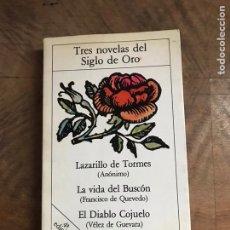 Libros: TRES NOVELAS DEL SIGLO DE ORO. Lote 180418980
