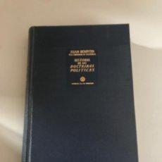 Livres: HISTORIA DE LAS DOCTRINAS POLÍTICAS. Lote 180506012