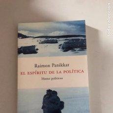 Libros: EL ESPÍRITU DE LA POLÍTICA. Lote 180877312