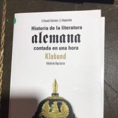 Libros: HISTORIA DE LA LITERATURA ALEMANA. KLABUND.. Lote 182361720
