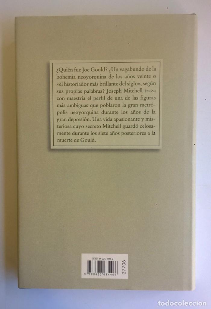 Libros: EL SECRETO DE JOE GOULD,DE JOSEPH MITCHELL - CÍRCULO DE LECTORES - AÑO 2000 - LIBRO NUEVO - Foto 2 - 184410402