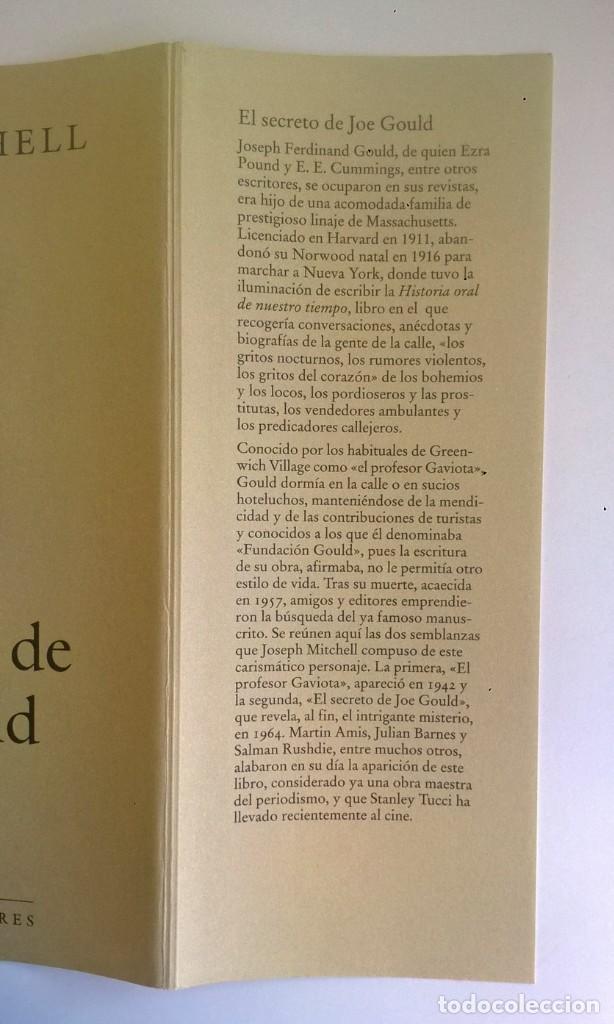 Libros: EL SECRETO DE JOE GOULD,DE JOSEPH MITCHELL - CÍRCULO DE LECTORES - AÑO 2000 - LIBRO NUEVO - Foto 15 - 184410402