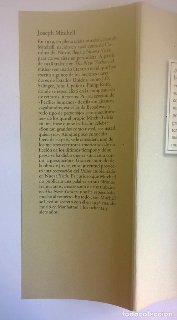 Libros: EL SECRETO DE JOE GOULD,DE JOSEPH MITCHELL - CÍRCULO DE LECTORES - AÑO 2000 - LIBRO NUEVO - Foto 16 - 184410402