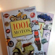 Libros: 1001 COCHES LEGENDARIOS. 1001 MOTOS. SERVILIBRO. Lote 187636311