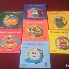 Libros: LOTE DE 7 CUADERNOS PARA PINTAR - MOTIVO EL RECICLAJE, NUEVOS, OBSEQUIO AYTO. ROQUETAS MAR.. Lote 191025908