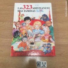 Libros: LAS 323 ADIVINANZAS MÁS FAMOSAS. Lote 191207602
