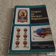 Libros: JUEGOS DE NAIPES ESPAÑOLES. ED. HERACLIO FOURNIER, 1984. Lote 195653456