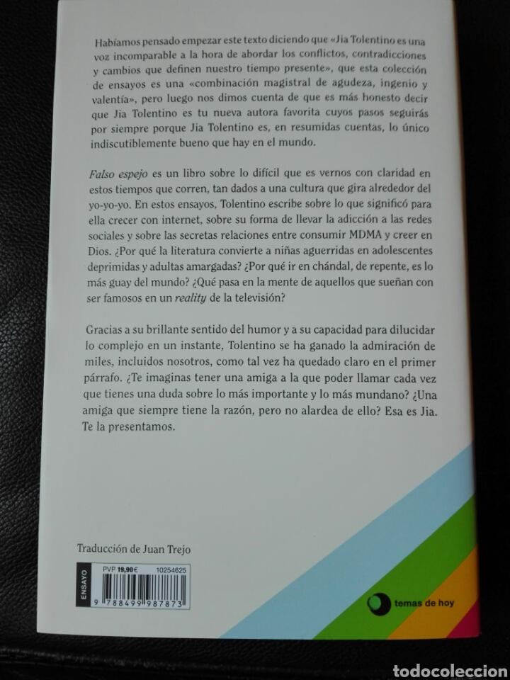 Libros: Falso espejo Reflexiones sobre el autoengaño Jia Tolentino. Libro nuevo - Foto 3 - 255470460
