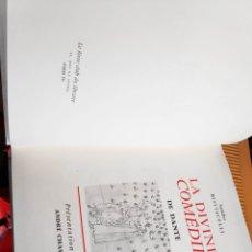 Libros: LIBRO LA DIVINE COMEDIE DANTE BOTTICELLI. Lote 198496558