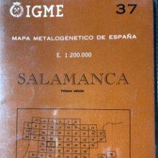 Libros: MAPA METAL O GENÉTICO DE ESPAÑA ESCALA 1:200.000 SALAMANCA. Lote 198784736