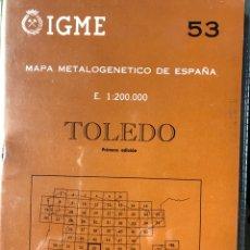 Libros: MAPA DE TOLEDO E 1:200000. Lote 198785320