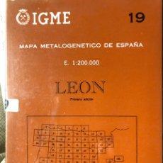 Libros: MAPA DE LEÓN E 1:200000. Lote 198785643