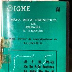 Libros: MAPA METALOGENETICO DE ESPAÑA E 1:1.150.000. Lote 198786151