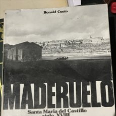 Libros: MADERUELO POR RONALDO CUETO SEGOVIA. Lote 200277113