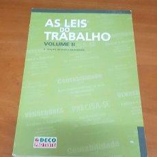 Libros: LIBRO LAS LEYES DEL TRABAJO EN PORTUGAL VOL. II. Lote 200399202