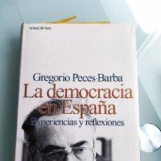 Libros: LA DEMOCRACIA EN ESPAÑA - GREGORIO PECES BARBA (NUEVO). Lote 200628212