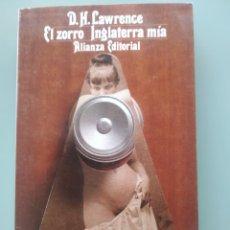 Libros: D.H. LAWRENCE - EL ZORRO - INGLATERRA MIA (NUEVO). Lote 202336437