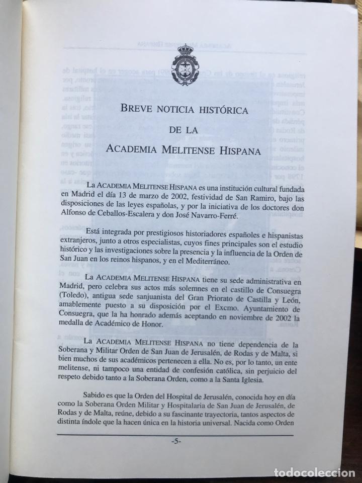 Libros: Academia Melitense hispana estado a 1 de enero de 2004 - Foto 2 - 231094690