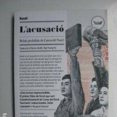 Libros: LIBRO - L'ACUSACIO RELATS PROHIBITS DE COREA DEL NORD - ED. PERISCOPI - BANDI - EN CATALAN NUEVO. Lote 205820776