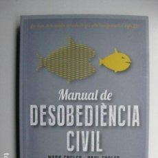 Libros: LIBRO - MANUAL DE DESOBEDIENCIA CIVIL - ED. SALDONAR - MARK ENGLER PAUL ENGLER - EN CATALAN. Lote 205823907