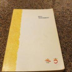 Libros: LIBRO NOU TESTAMENT. Lote 206590821