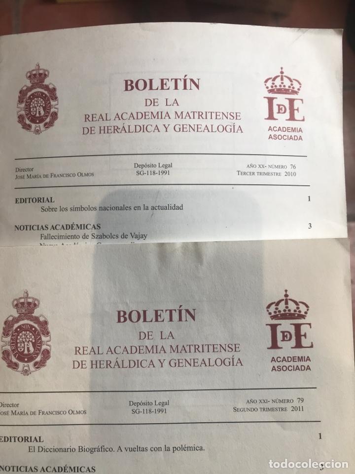 Libros: Dos Boletínes de la real academia matritense de heráldica y genealogía - Foto 2 - 206863690