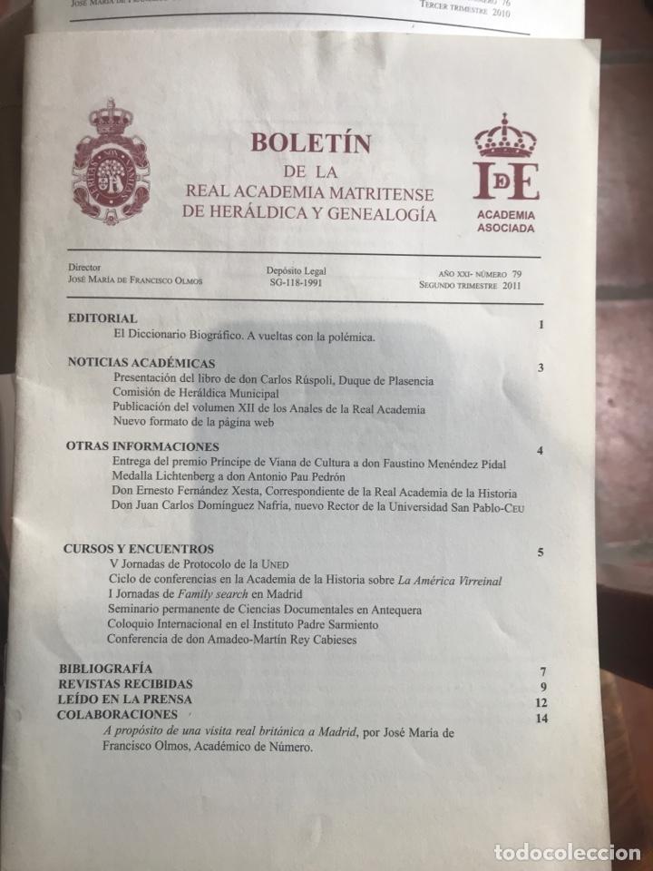 DOS BOLETÍNES DE LA REAL ACADEMIA MATRITENSE DE HERÁLDICA Y GENEALOGÍA (Libros nuevos sin clasificar)