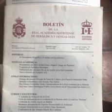 Libros: DOS BOLETÍNES DE LA REAL ACADEMIA MATRITENSE DE HERÁLDICA Y GENEALOGÍA. Lote 206863690